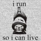 I Run - black by Dana DiPasquale