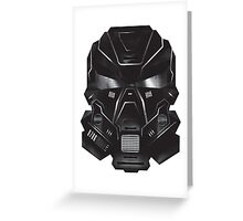Black Metal Future Fighter Sci-fi Concept Art Greeting Card