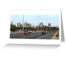 Melbourne City from the Eastern Freeway  Greeting Card