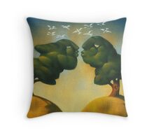 the kissing trees Throw Pillow
