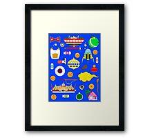 Dragon Ball Icons Framed Print