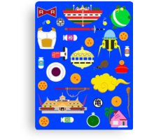 Dragon Ball Icons Canvas Print