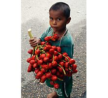 Taking his Fruits to the Market. Photographic Print