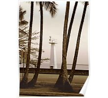 Hilo Bay Lighthouse Poster