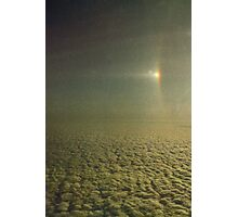 Sundog with a partially visible section of a 22 degree Halo over Antarctica.... Photographic Print
