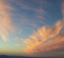 swooping clouds at sunset on Mt Read, Rosebery by gaylene