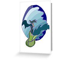 Splashing wave vase Greeting Card