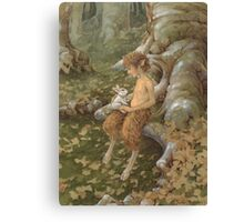 The White Hare Canvas Print
