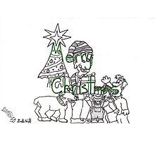 Merry Christmas Verbolstration Photographic Print