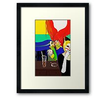 Idealist Girls try to have some fun Framed Print