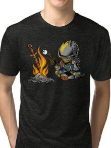 on an open bonfire Tri-blend T-Shirt