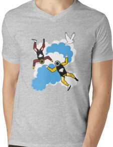 Sky Diving Mens V-Neck T-Shirt