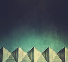 Urban Geometric Landscape Skyline by Matthew Hollinshead