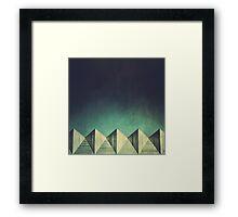 Urban Geometric Landscape Skyline Framed Print