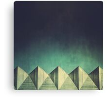 Urban Geometric Landscape Skyline Canvas Print