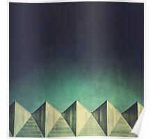 Urban Geometric Landscape Skyline Poster