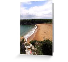 Barafundel Bay, Pembrokeshire Greeting Card