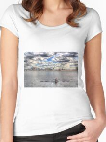 Sculling at London City Airport Women's Fitted Scoop T-Shirt