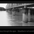 Burdekin bridge against flooding waters by jade77green