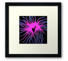 Fusion of the heart Framed Print