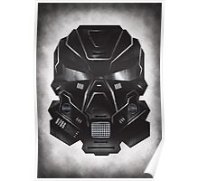 Black Metal Future Fighter on distressed background Poster