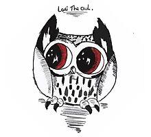 Loki the owl Photographic Print