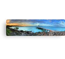 Mauritius Jetty Sunset Canvas Print