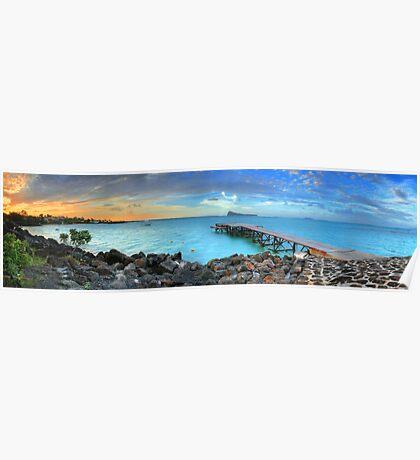 Mauritius Jetty Sunset Poster