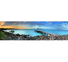 Mauritius Jetty Sunset Photographic Print