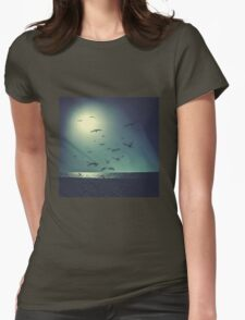 A Flock of Seagulls Womens Fitted T-Shirt