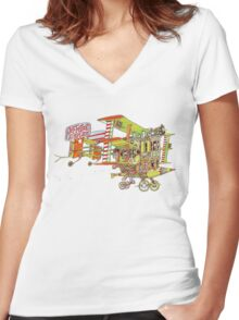 Jefferson Airplane - After Bathing at Baxter's Women's Fitted V-Neck T-Shirt