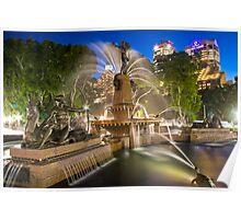 Archibald Fountain Hyde Park City Of Sydney Poster