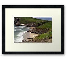 The sandy beach at Couminole Framed Print
