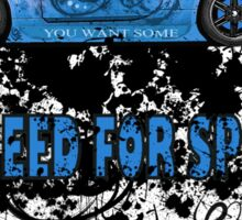 A NEED FOR SPEED(BLUE) Sticker