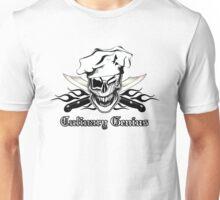 Chef Skull 7: Culinary Genius 3 black flames Unisex T-Shirt