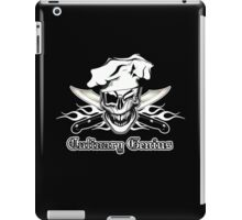 Chef Skull 7: Culinary Genius 3 white flames iPad Case/Skin