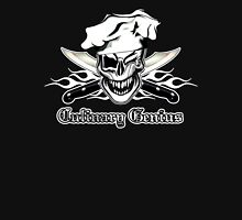 Chef Skull 7: Culinary Genius 3 white flames Unisex T-Shirt