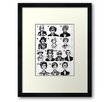All of the Doctors Framed Print