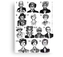 All of the Doctors Canvas Print