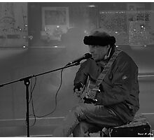 He Plays Johnny Cash... Photographic Print