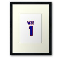 National baseball player Pee Wee jersey 1 Framed Print
