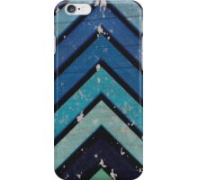 Aged Chevron Cool Blue iPhone Case/Skin