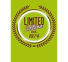 Limited Edition est.1974 Photographic Print