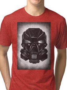 Black Metal Future Fighter on distressed background Tri-blend T-Shirt