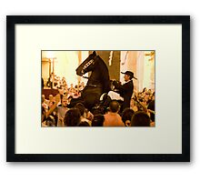 the rider Framed Print