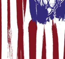 Hops Nation! Hops and Stripes U.S. flag grunge style Sticker