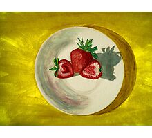 Water color of strawberries Photographic Print