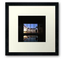 Sunset over Melbourne Framed Print