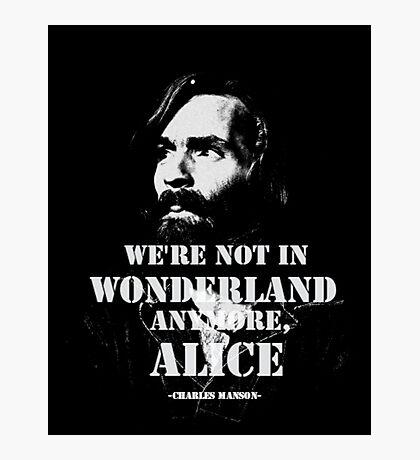 Charles Manson - Wonderland Photographic Print