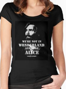 Charles Manson - Wonderland Women's Fitted Scoop T-Shirt